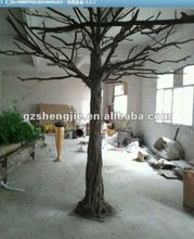 huge artificial dry tree artificial banyan trees without leaves on strunk