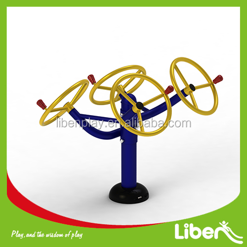Children Steel Outdoor Fitness Equipment with Double Arm Wheel LE.ET.002