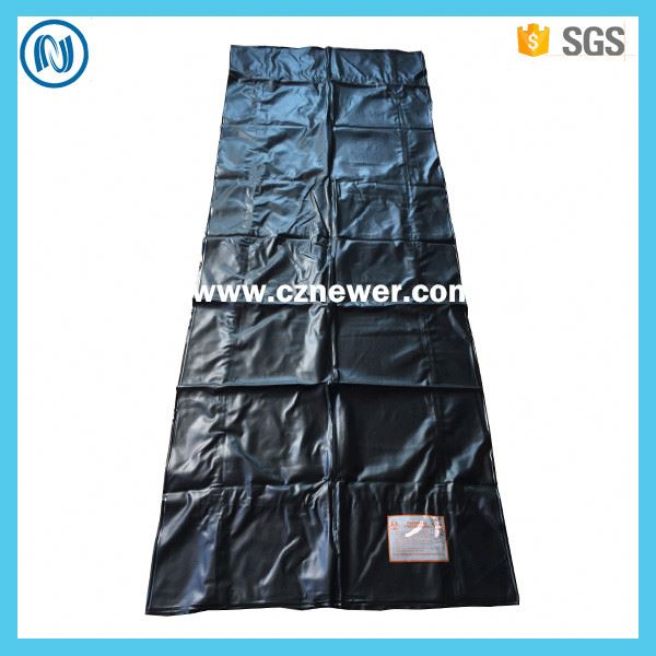 Leakproof PVC corpse body bag with six handles for police