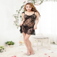 2016 Hot sale fasionable sexy transparent nighties for women