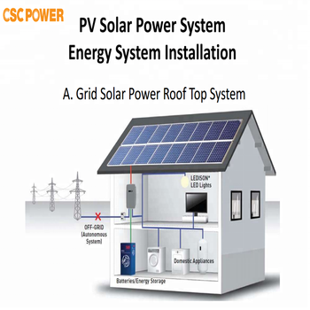 Cscpower 10kw solar zonne-energie systeem home generator systeem