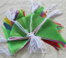 Wholesale Fabric14*21 cm triangle bunting flags Banners with custom design