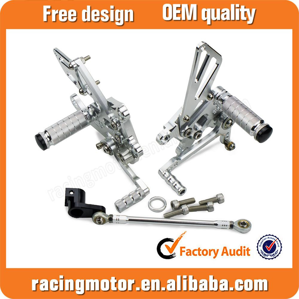 CNC Billet Racing Rearset Adjustable Rear Sets For Aprilia Tuono1000 V4 R APRC 2011-2014