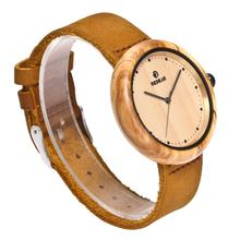 Wholesale Vogue Olive Wood Watch Ladies Wrist Watches Men Bamboo Wood Watch