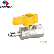 mexico market hot sales brass gas ball valve with aluminum handle f/m thread