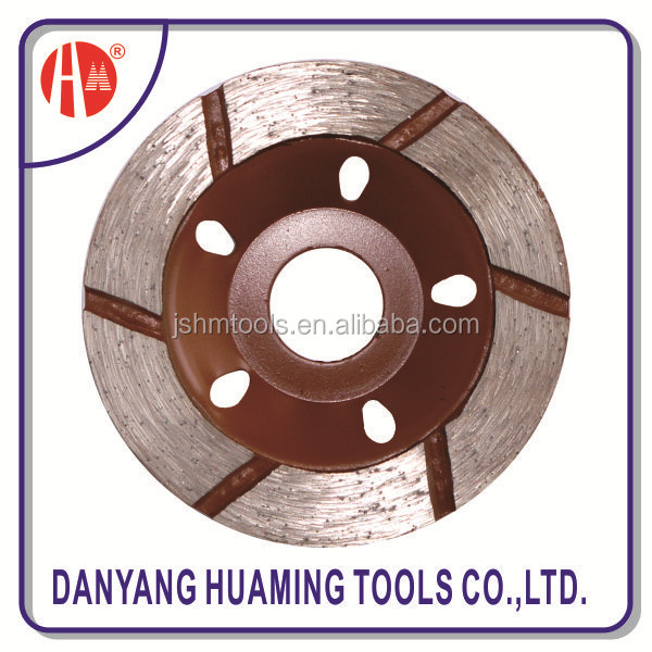 turbo diamond balde with guide segment for long life cutting hard and dense material