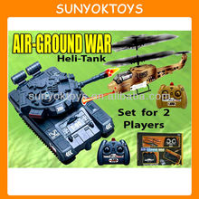Air Ground War 1:48 RTR Electric RC Helicopter And Tank, RC Battle Helicopters
