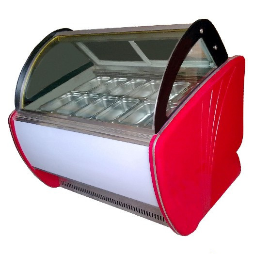 ice cream machine|Ice Cream Display|Curved Glass top ice cream display freezers Showcase