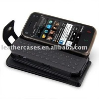 Leather Case for Nokia N97 mini - Book Type (Black)
