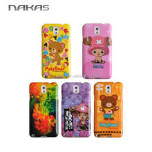TPU cartoon pattern water transfer mobile phone case for Samsung galaxy note 3