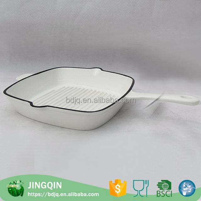 New Design square cast iron skillet and frying pan