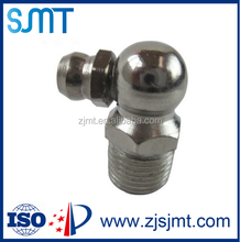 Supply nickel plated 90 degree oil Cup M10X1 stainless steel choke injection 45/90 degree grease nipple