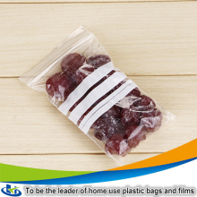 Wholesale high clarity resealable food grade ziplock plastic bags, high quality plastic bags for frozen food