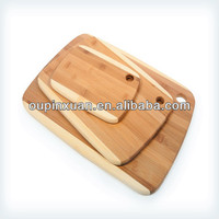 2014 hot selling 3 piece core bamboo cutting board,mini cheese board sets