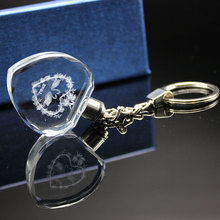 Promotion Mini Flashing LED New Best quality souvenir cheap crystal key chain
