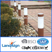 Solar garden light factory newest solar stick light product solar wood grain path light with stake
