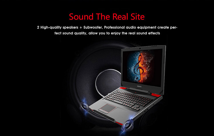 17.3 inch i7-7700HQ 16GB 256GB SSD 1TB HDD gaming laptop with GTX-1060 IPS screen