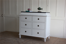 french antique wood white painted chest of drawers