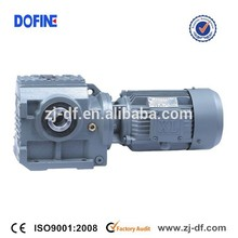 DOFINE foot mounted helical gear reducer gearbox vertical geared motor