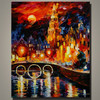 Most popular decorative handmade Knife painting room oil painting on canvas