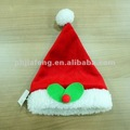 red soft plush pet Christmas hat