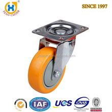 Hard Rubber Fixed Caster Wheel with Brake Cast Iron Industrial Caster Wheel