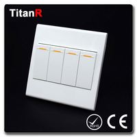 China manufacture of cheaper white pc panel wall switch 3 gang electric switch
