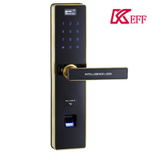 2017 New Intelligent Stainless Steel Keyless Security Card Password Fingerprint Access Control System House Office Door Lock