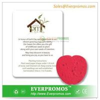 Promotional Apple Shaped Seed Paper Gift Packet