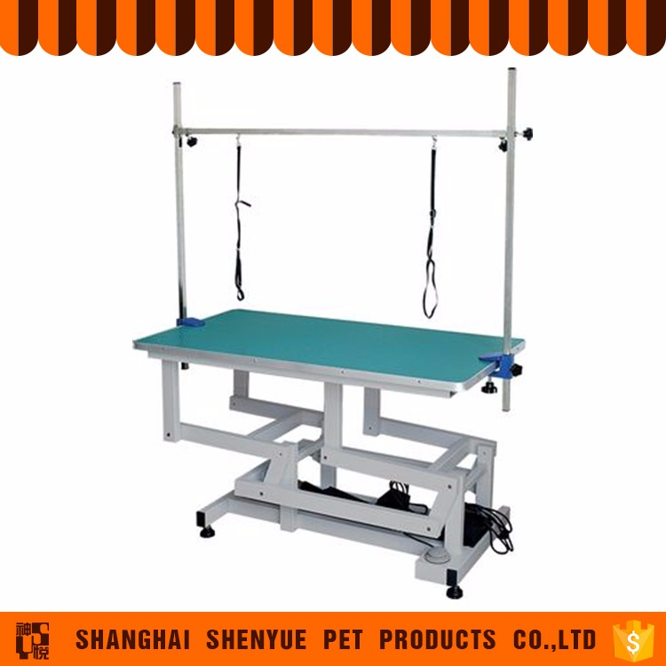 Wireless and wired remote control electric grooming table dog table