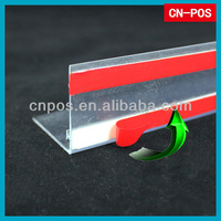 plastic rail for pusher and divider in supermarket
