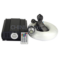 DMX LED 45W RGB LED Light Engine With 28Key Remote+0.75mm*5m*1000pcs Optical Fiber Kit For Hotel/Club Decoration