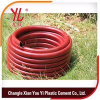 China Fiber PVC garden soft pipe green 3/8inch Drainage PVC hose