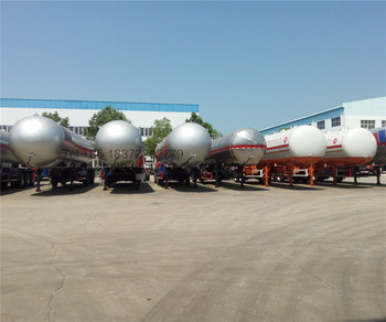 Lpg 20ton storage tank full lpg kit gas cylinder 3 axle lpg tank trailer