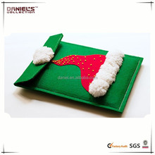 2015 new design chrismas hat felt gift bags for ipad