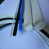Flexible silicone varnished fiberglass sleeving