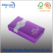 fancy embossed paper foldable colored underwear paper box