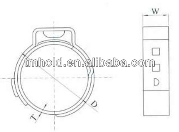 7mm bandwidth auto single ear pipe clamps
