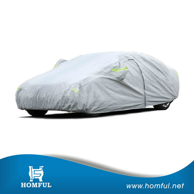 retractable car cover oxford coated silver car frost cover