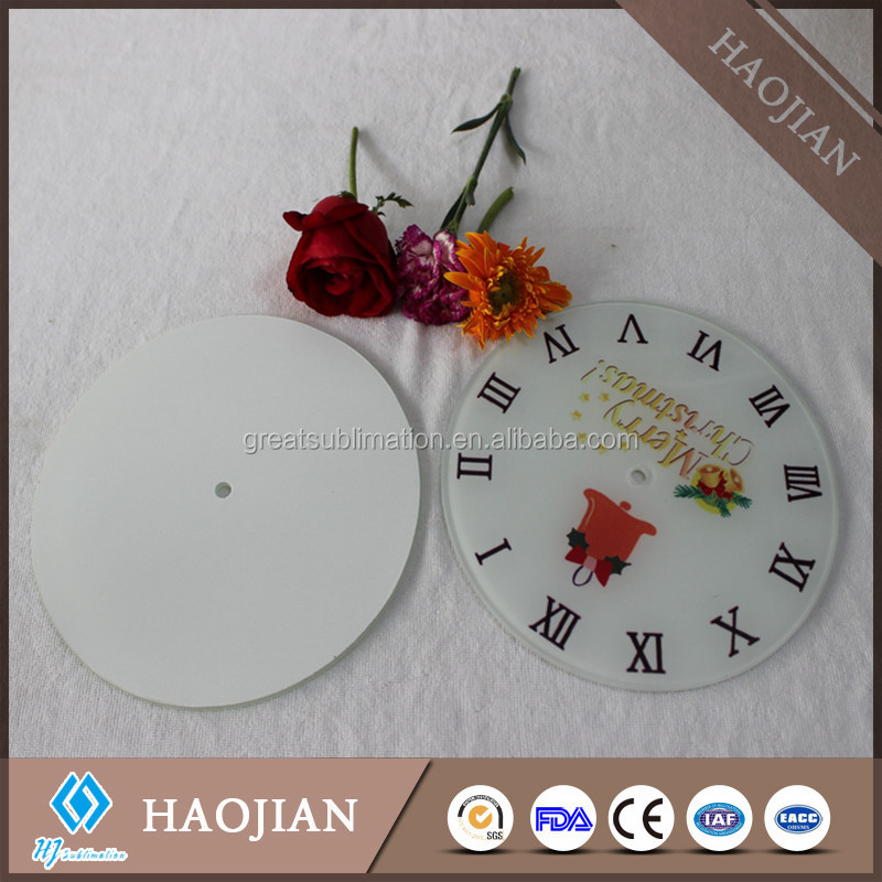 blank glass clock face for sublimation
