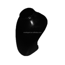 New product hot sale Jewely mannequin Necklace mannequin Fiberglass material in black for hot sale