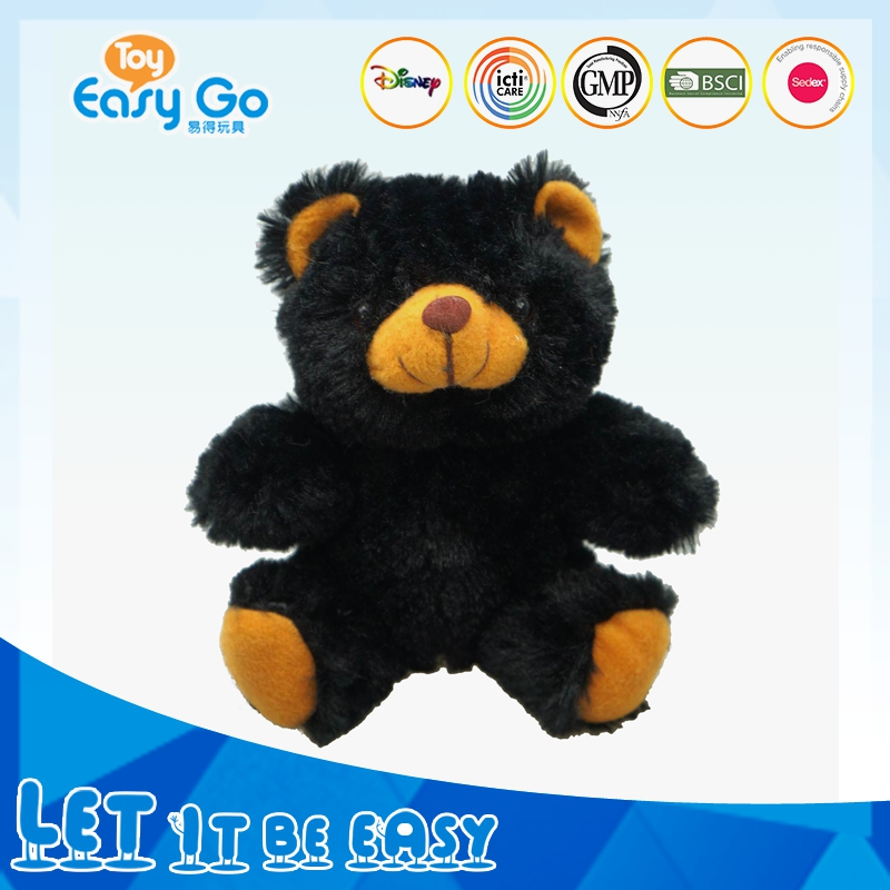 OEKO ICTI lifelike black bear plush toy