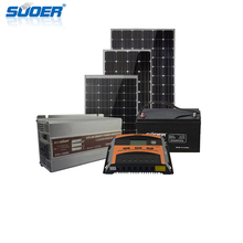 Suoer High Quality 12Volt 1000W Off Grid Solar Panel Power System With PWM Controller For Home Use 1KW