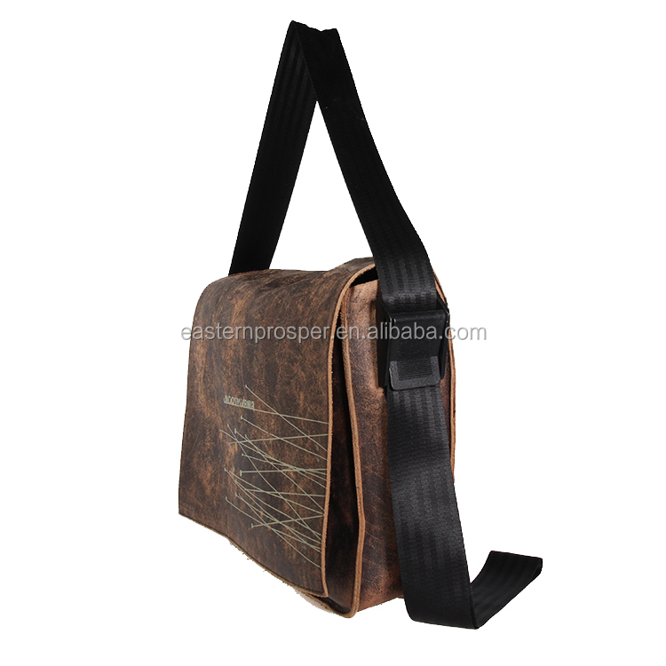 China price quality custom mens leather handbag messenger bag