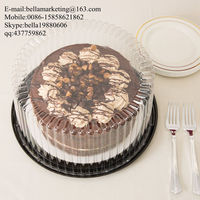 Plastic High Quality Blister Clear Round Cake Container Box, 12 Inch Cake Boxes
