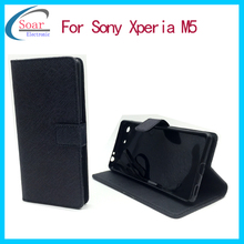 Cell Phone Case For Sony Xperia M5 Stand Wallet Leather Flip Cover Case For Sony M5