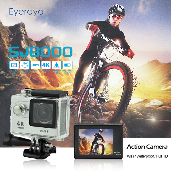 4k WIFI sport camera 1080P 60FPS resolution action camera with fish eye lens