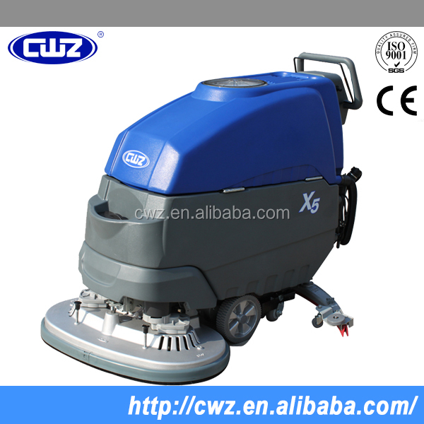 Cleaning equipment hand floor scrubber dryer with battery