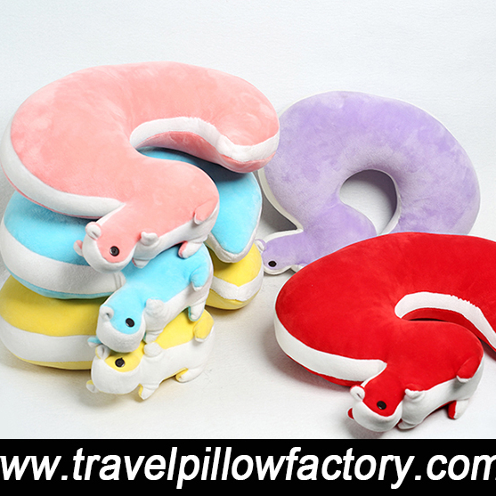 Foam particles <strong>U</strong> shaped cute animal neck pillow travel pillow factory direct