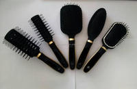 wholesale can OEM customized ningbo factory rubber hair brush set for salon use